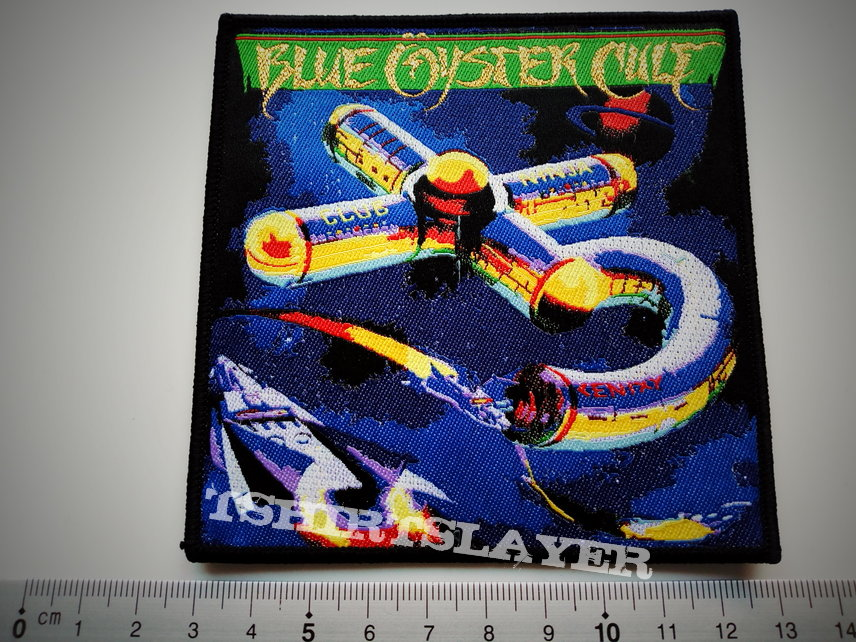 Blue oyster cult patch b275 gold print ltd edition