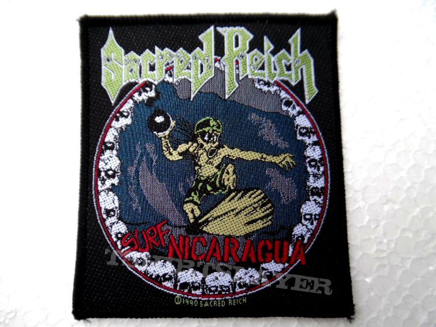 SACRED REICH vintage 1990 patch s167 new 8.5x9.5  cm