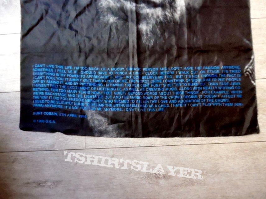 nirvana kurt cobain poster flag no9168 size 75 x 110 cm