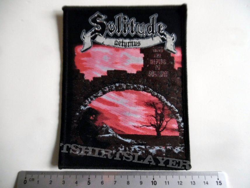 SOLITUDE Aeturnus patch S232 new   silver print