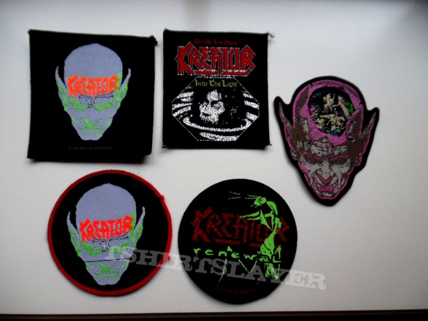 KREATOR     RARE  brandnew shaped patch 9.5 cm k83 9x10.5cm