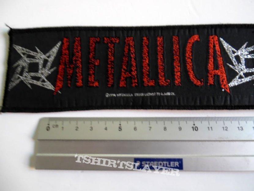 Metallica strip patch d192 new 1996- 6.5x20 cm silver print