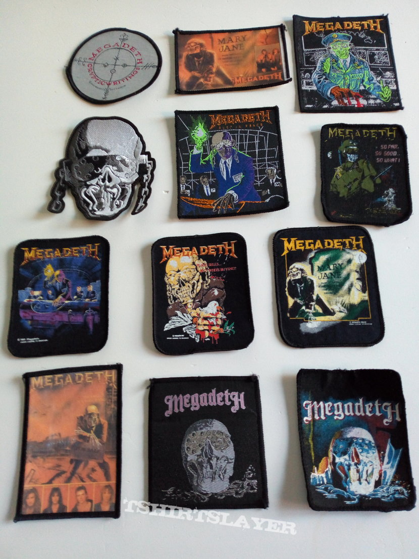MEGADETH RUST IN PEACE 1990 patch 14 new and unused 10 x 11 cm