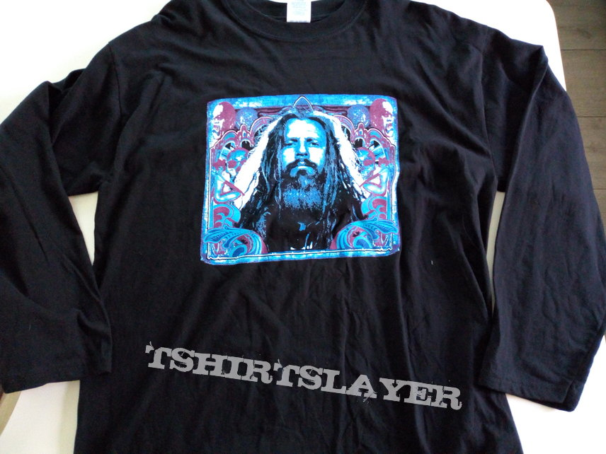 Rob Zombie longsleeve t shirt  size L  sh501 +backprint