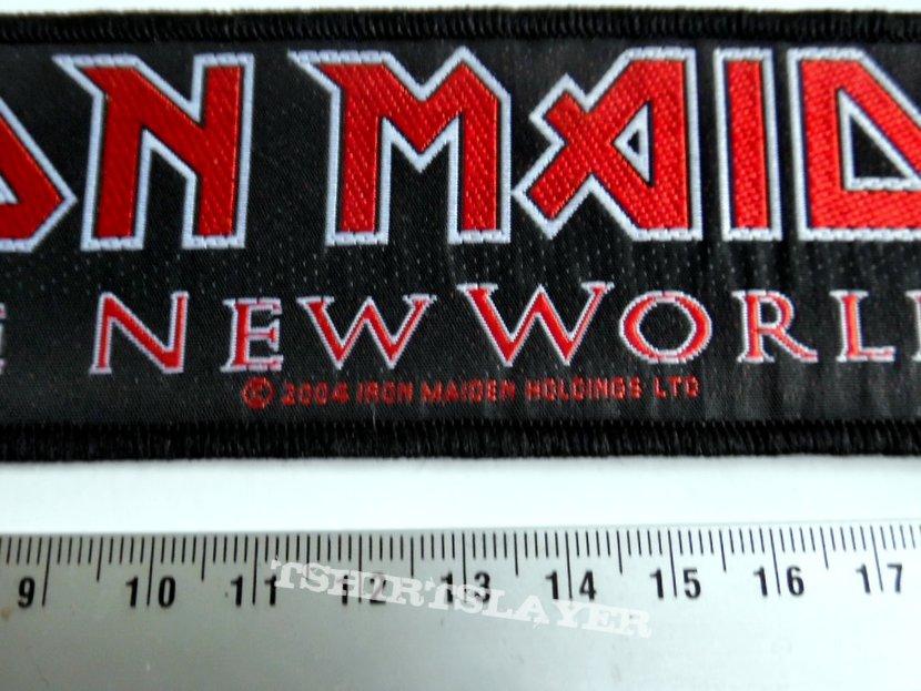 Iron Maiden new strip patch 53   20x5 cm 2004 brave new world tour