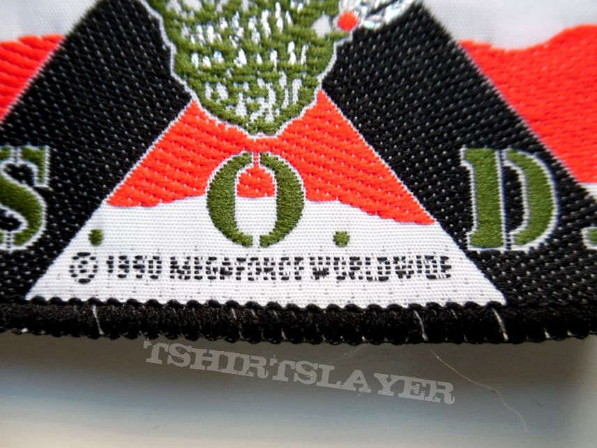 S.O.D.patch s165 very rare 7.5x7.5 cm 1990