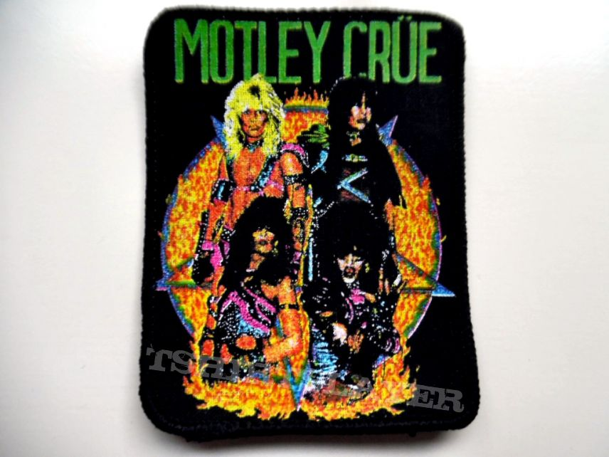 MOTLEY CRUE very rare 80's patch new 9x10 cm
