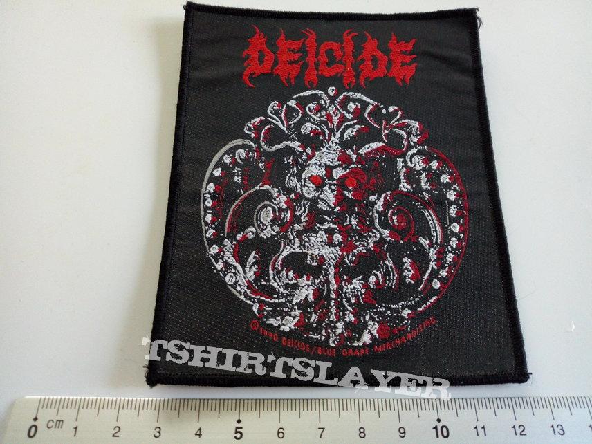 Deicide vintage 1990 patch d42 very rare  10 x 12 cm