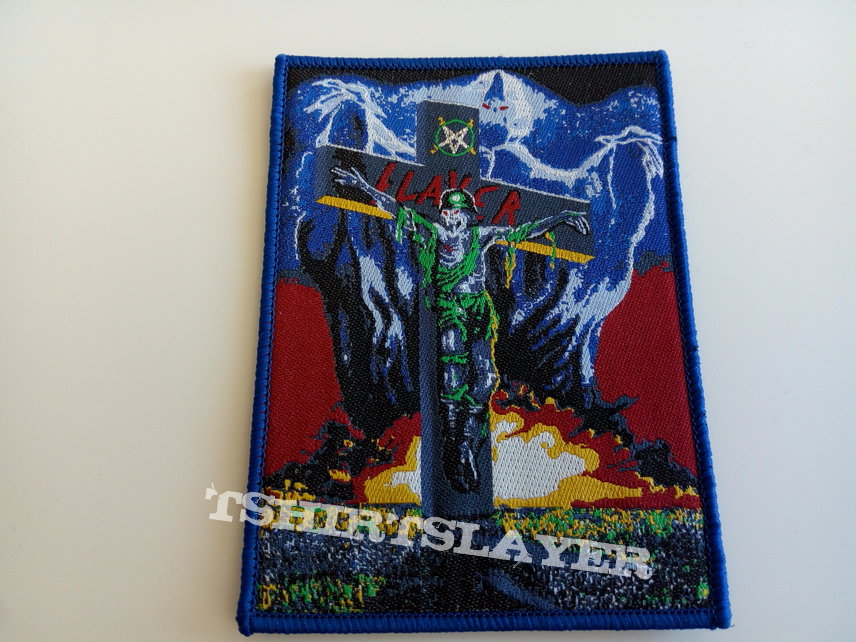 Slayer ltd edition patch 123 blue border