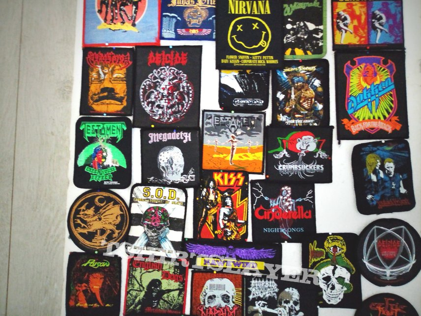some rock/ metal patches vintage