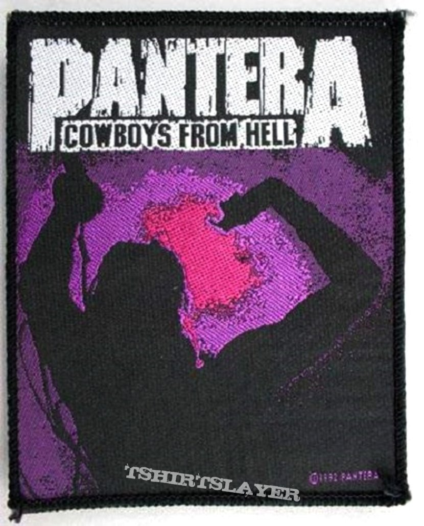 PANTERA 1992 cowboys from  hell vintage patch p110 new12x10 cm