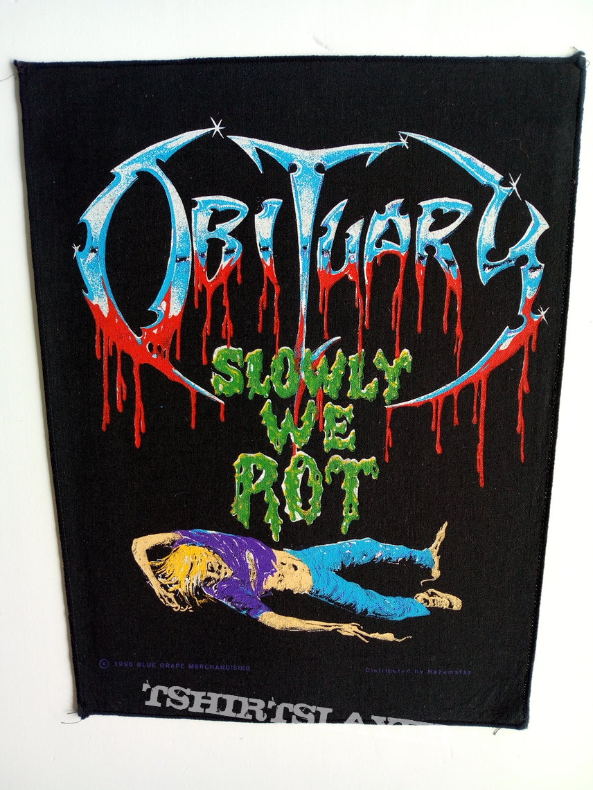 Obituary   back patch 1990 backpatch slowly we rot brandnew bp131