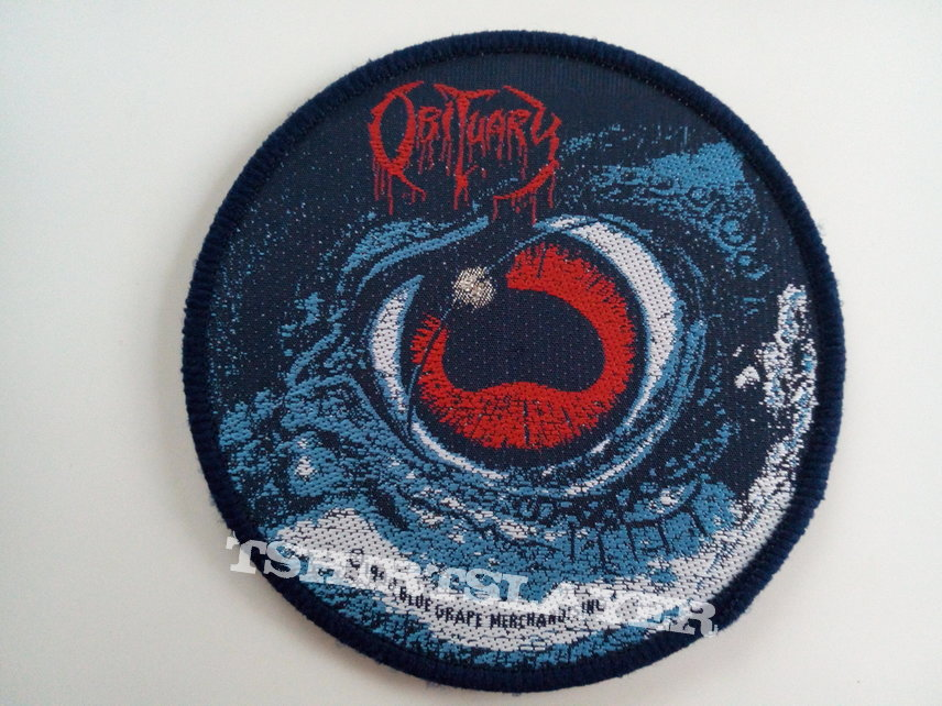 OBITUARY VINTAGE new patch o48 1990 original cause of death round 10cm