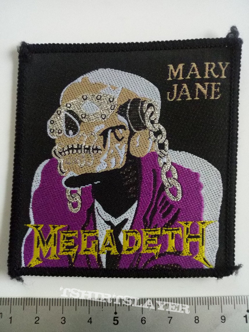 Megadeth official 1988 mary jane patch 80
