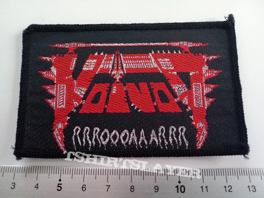 Voivod original 1986  vintage patch v32  rrroooaaarrr 6.5x 9--- v  silver glitter print