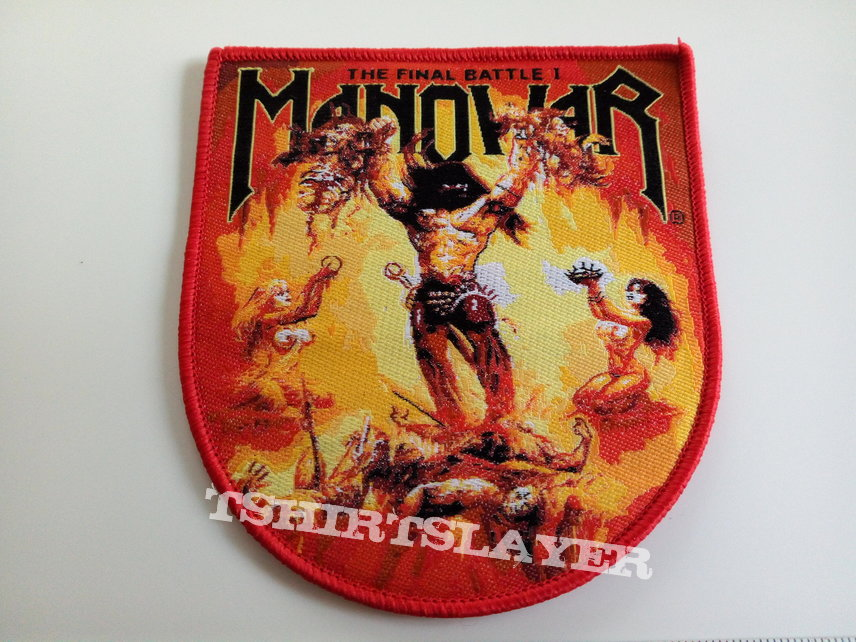 Manowar  the final battle shaped patch m217 -- 8.5x9.5 cm