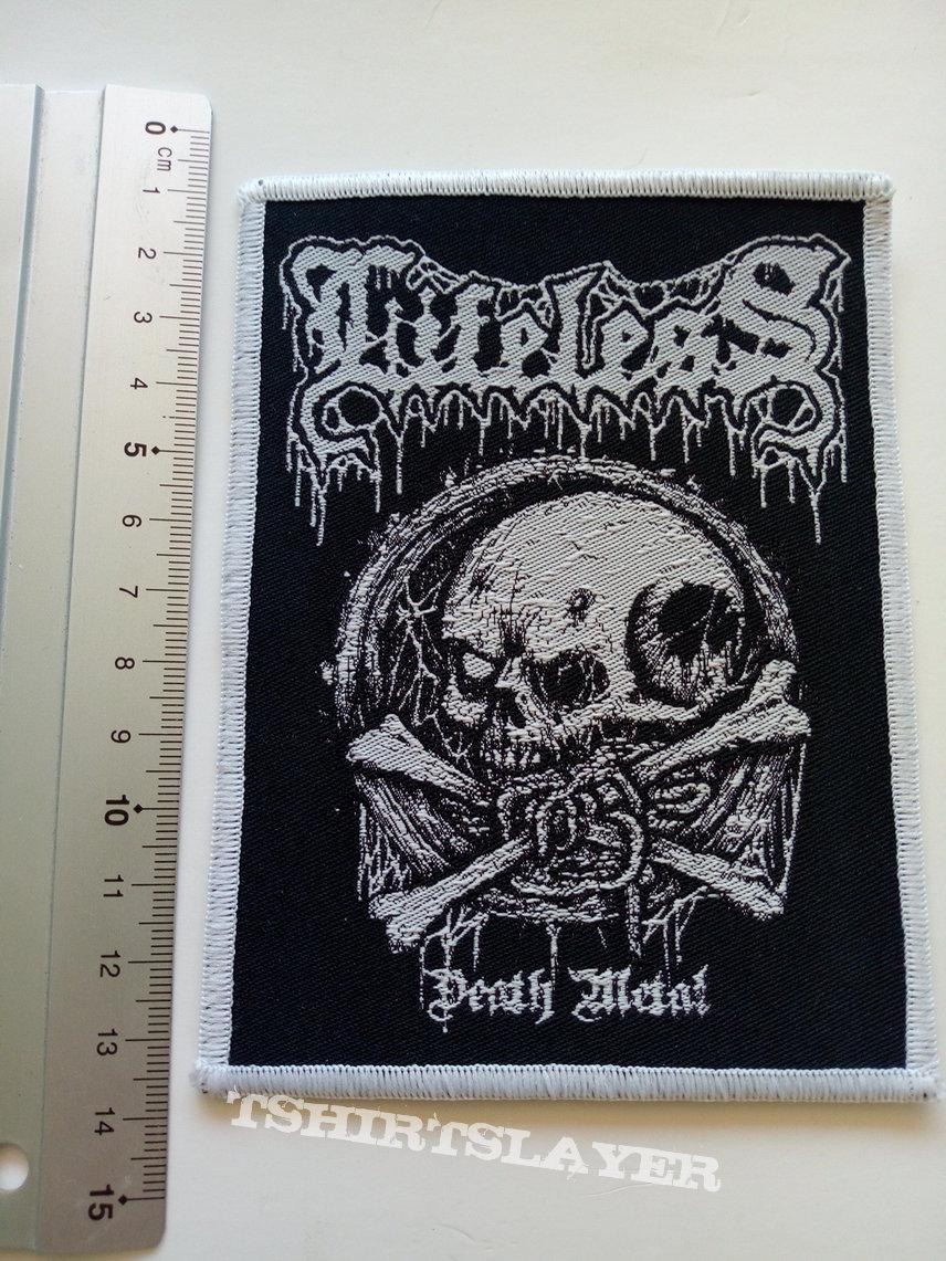 Lifeless death metal patch white border l57 size 9.5 x 12.5 cm