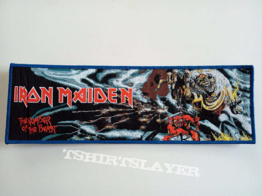 Iron Maiden TNOTB -limited edition strip patch 131-- 6X19CM
