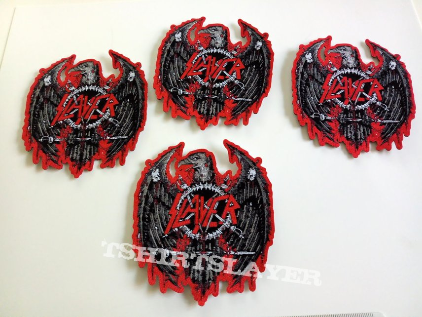 Slayer  ltd. edition shaped patch 130 new 8.5 x 10 cm
