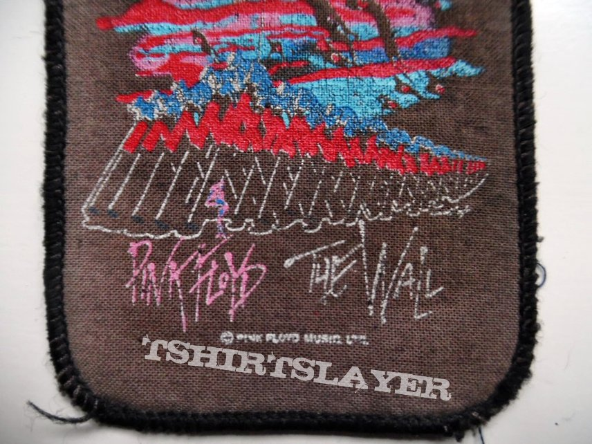 PINK FLOYD official  80's patch used102 vintage 8X10 collector's item