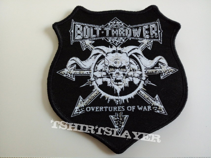Bolth Thrower  shaped patch b285 overtures of war ---- 9x10 cm
