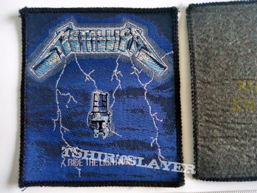METALLICA ride the lightning  sofficial 1984 patch 72 brandnew 9 x9  cm silver print
