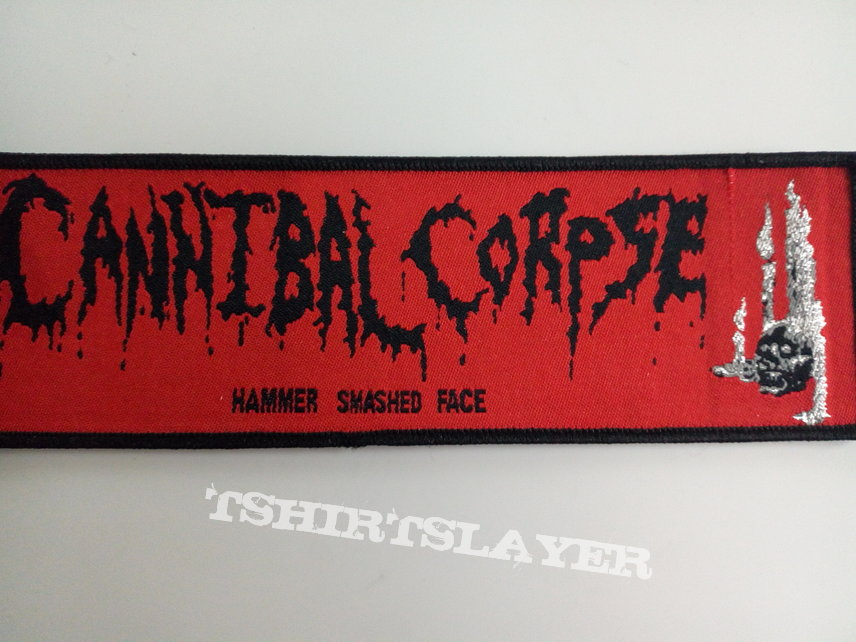 Cannibal Corpse strip ptach c111 hammer smashed face  5 x 19 cm