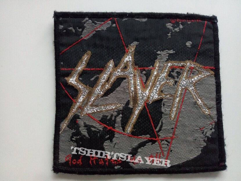 Slayer god hates us all official 2001  patch  used735
