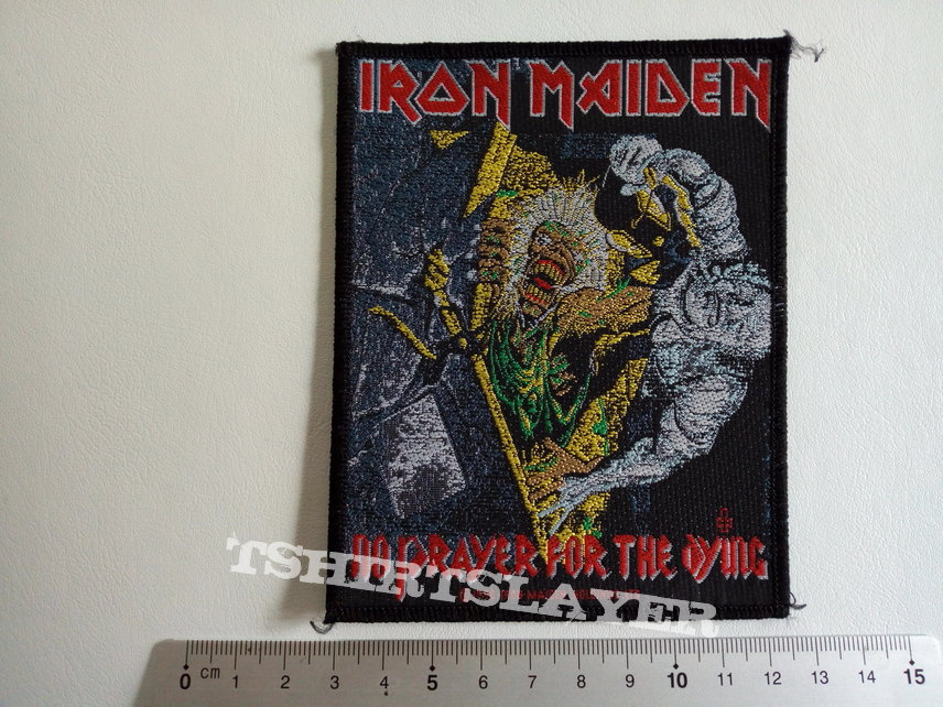 Iron Maiden 1990 vintage patch 143 no prayer for the dying  9.5x12 cm