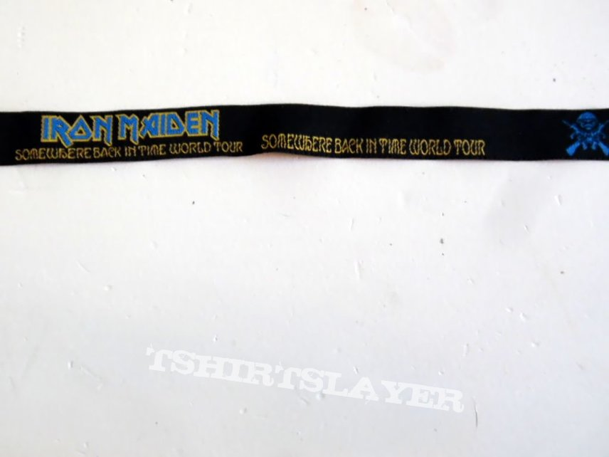 Iron Maiden textile wristband  somewehere back in time