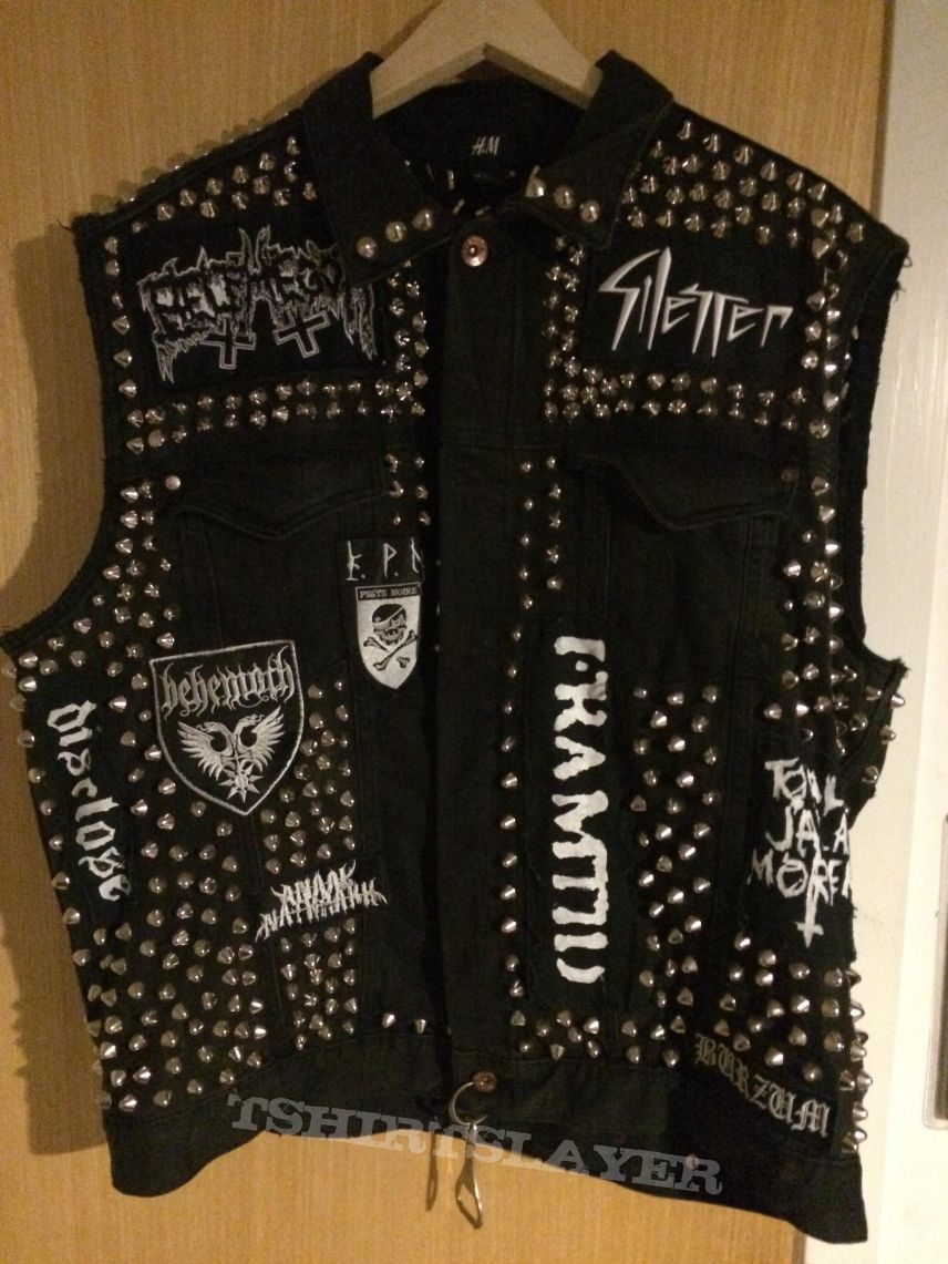 Studded Punk Vest Tshirtslayer Tshirt And Battlejacket