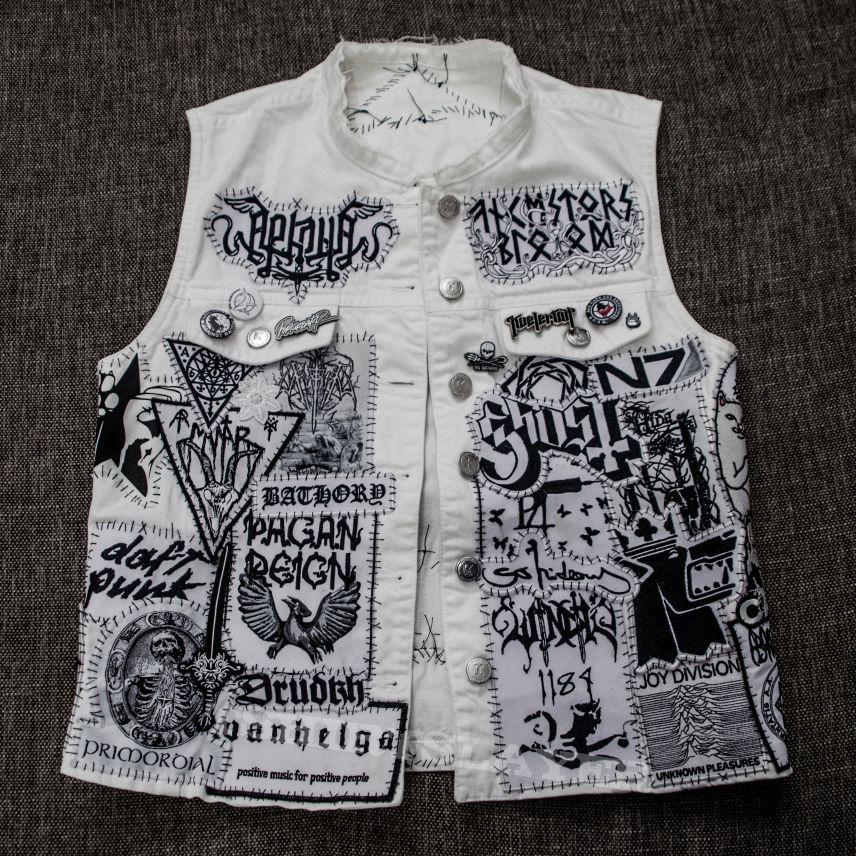 Black is boring. My white metal vest