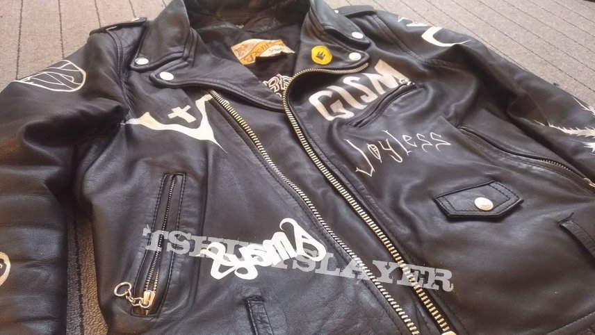 Handpainted worship on leather