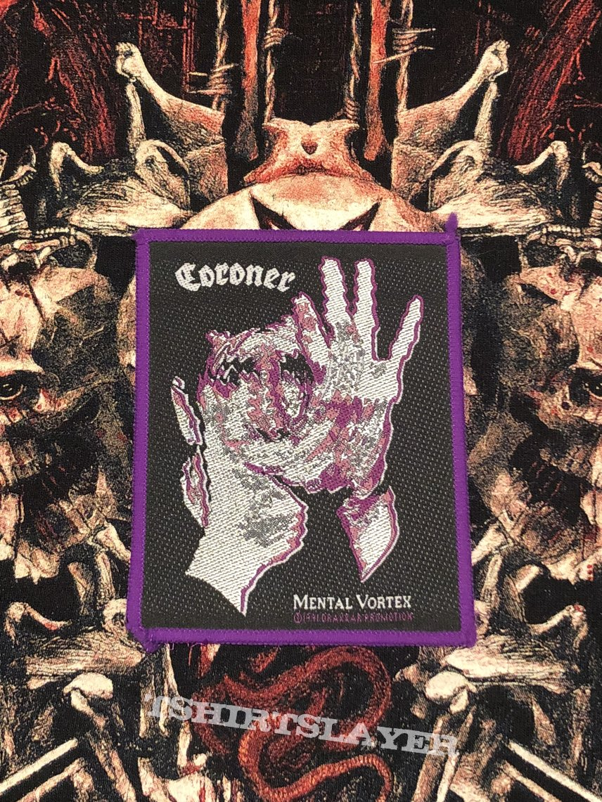 Coroner-Mental Vortex Patch (Purple border)