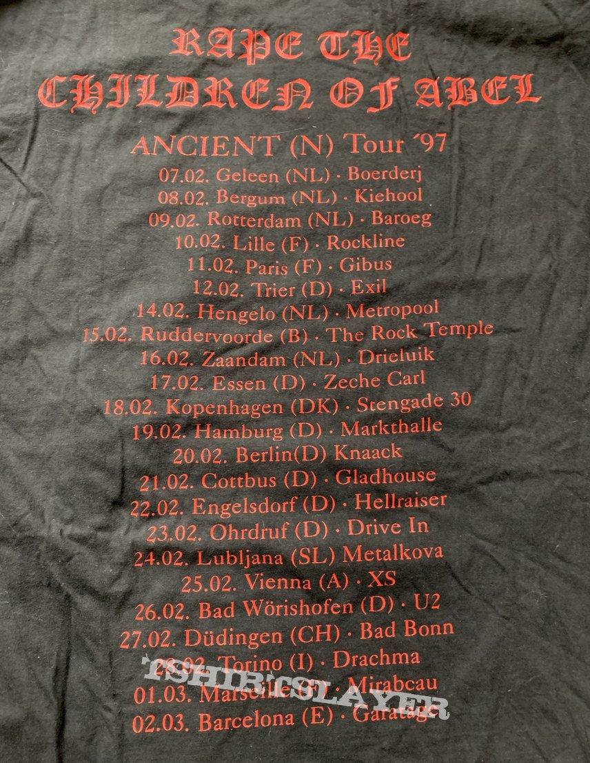 1997 Ancient Rape the children of Abel European tour longsleeve