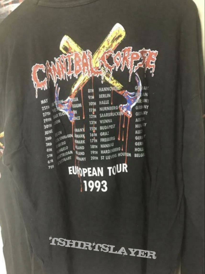 1993 Cannibal Corpse Hammer Smashed Face Tour Longsleeve