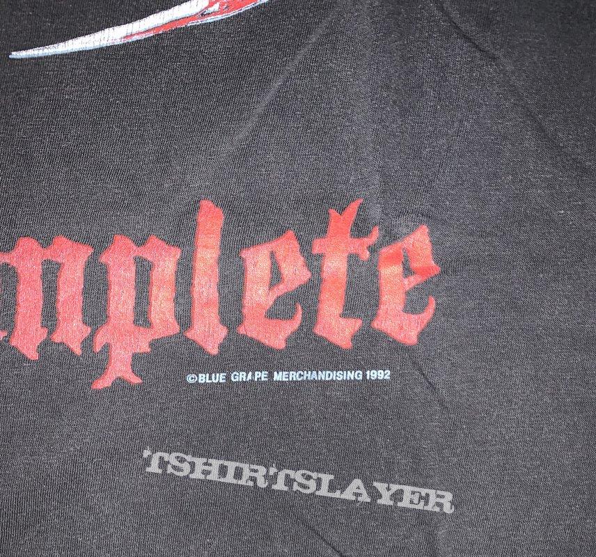 1992 Obituary The End Complete European Tour Shirt XL