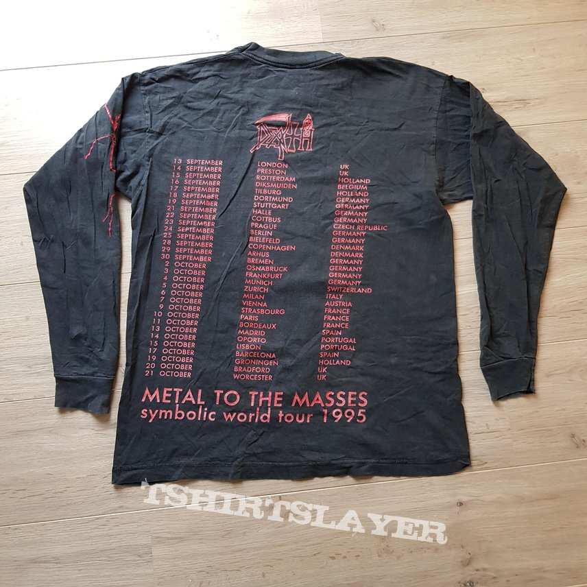 1995 Death Symbolic Metal To The Masses Tour Longsleeve