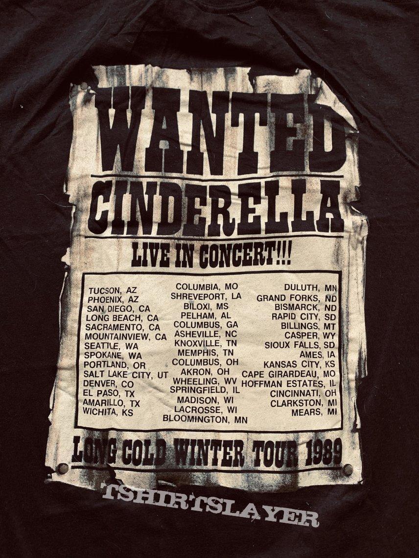 1989 Cinderella Long Cold Winter Tour Shirt L