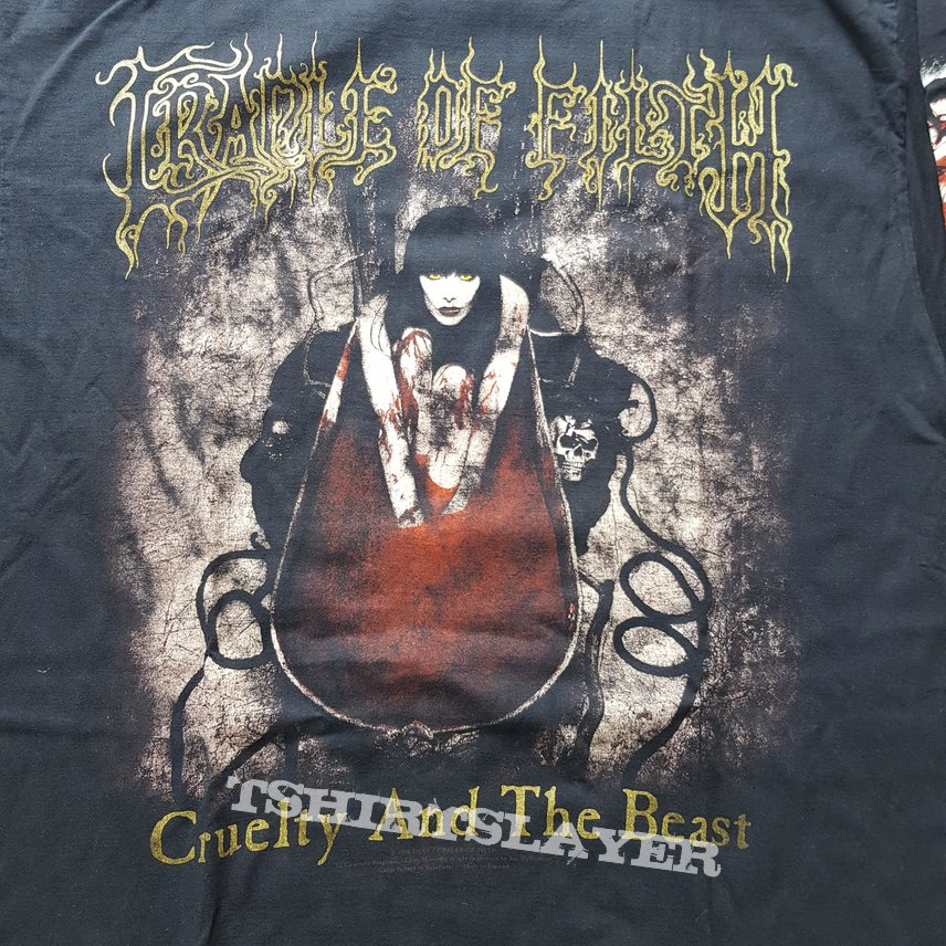 1998 Cradle Of Filth Cruelty And The Beast Longsleeve Shirt XL