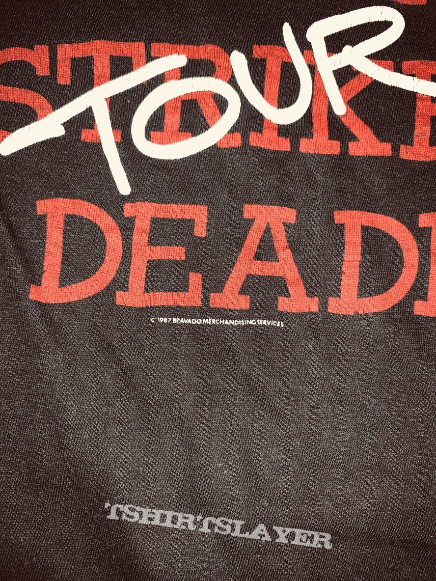 1987 Testament First Tour Is Deadly Shirt XL