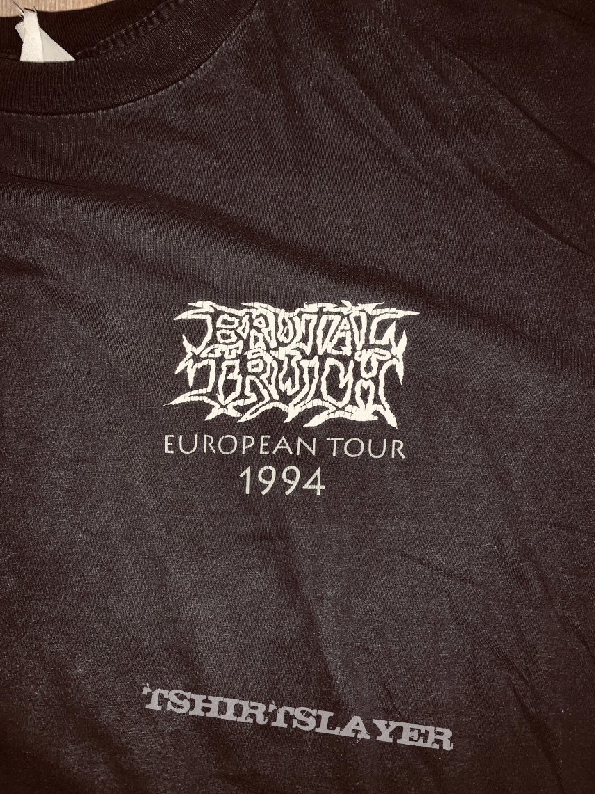 1994 Brutal Truth European Tour Longsleeve Shirt XL