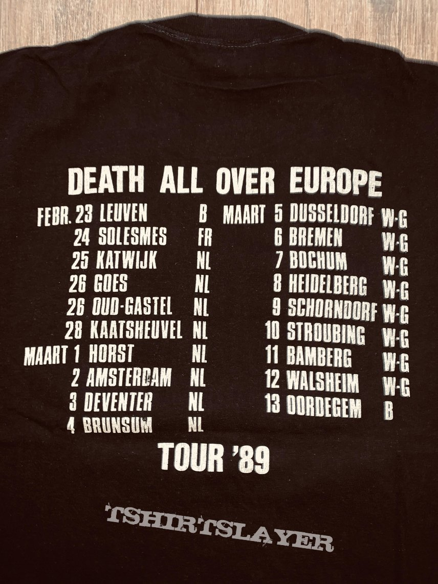 1989 Death All Over Europe Tour shirt L