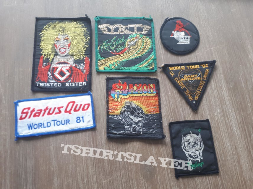 1980s Patches Motorhead Saxon Thin Lizzy Gary Moore Status Quo