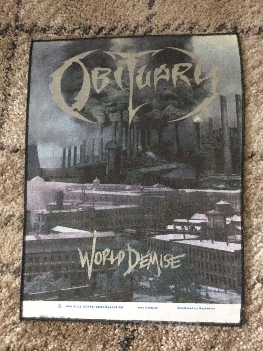 Obituary world demise Backpatch