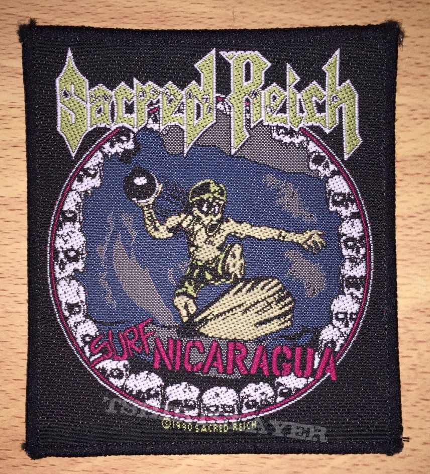 Vintage Sacred Reich Surf Nicaragua Woven Patch