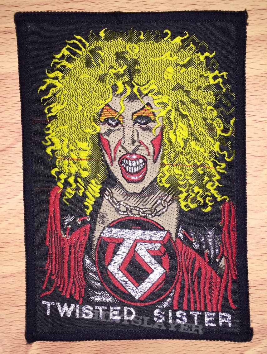 Vintage Twisted Sister Dee Snider Woven Patch