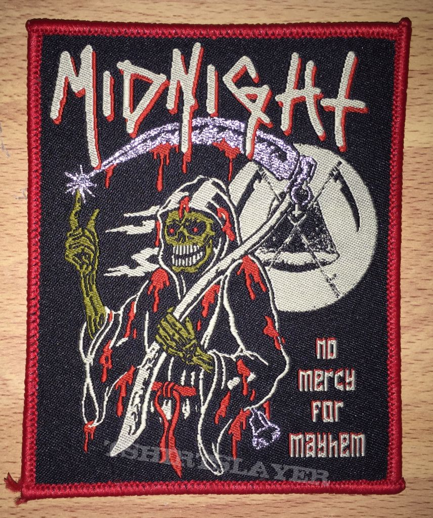 Midnight No Mercy For Mayhem Woven Patch