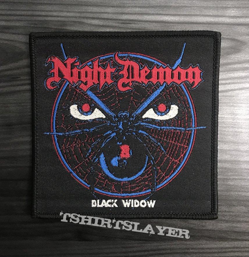 Night Demon Black Widow Woven Patch (Black Border)