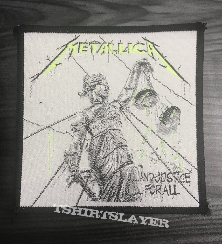 Vintage Metallica ...And Justice For All Woven Patch